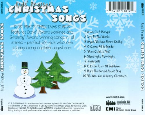 Kids' Praise! Christmas Songs - Kids' Praise! Company ...