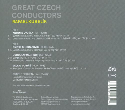 Great Czech Conductors: Rafael Kubelik