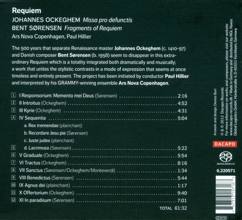 Requiem: Music by Johannes Ockeghem and Bent Sørensen