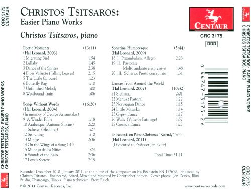Christos Tsitsaros: Easier Piano Works