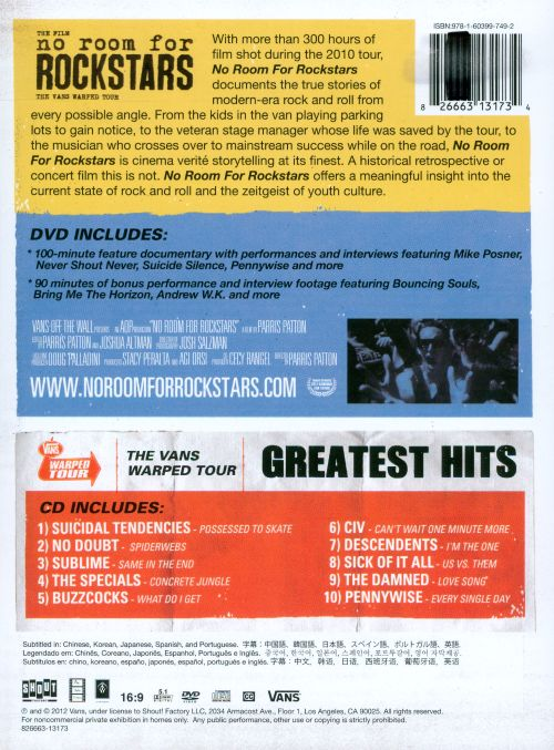 No Room for Rockstars/The Vans Warped Tour: Greatest Hits
