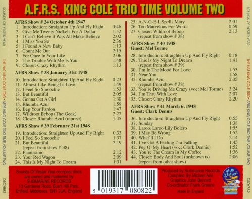 AFRS King Cole Trio Time