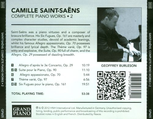 Saint-Saëns: Complete Piano Works, Vol. 2