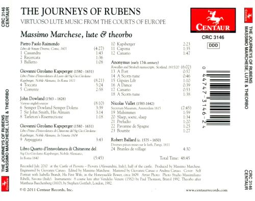 The Journeys of Rubens: Virtuoso Lute Music from the Courts of Europe