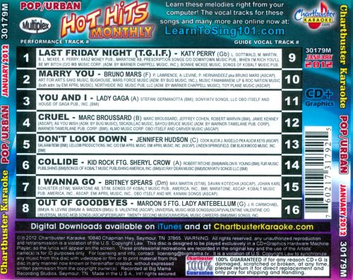 Chartbuster Karaoke: Pop Hits January 2012