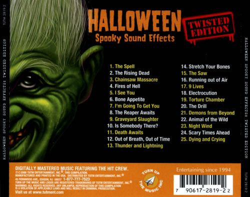 halloween spooky sound effects twisted edition halloween spooky sound effects twisted edition
