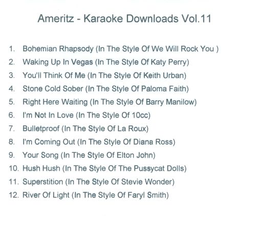 Karaoke Downloads, Vol. 11