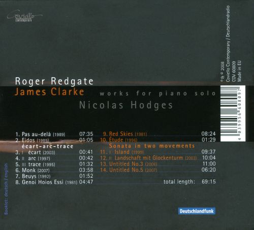 Roger Redgate, James Clarke: Works for Piano Solo