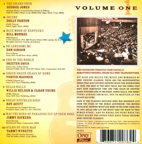 Opry Country Classics, Vol. 1