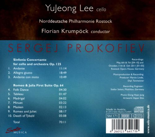 Prokofiev: Sinfonia Concertante; Romeo & Juliet First Suite