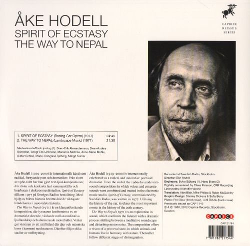 Åke Hodell: Spirit of Ecstasy; The Way to Nepal
