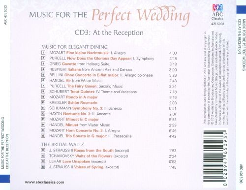 Music for the Perfect Wedding, CD3: At the Reception