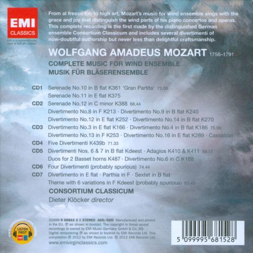 Mozart: Complete Music for Wind Ensemble