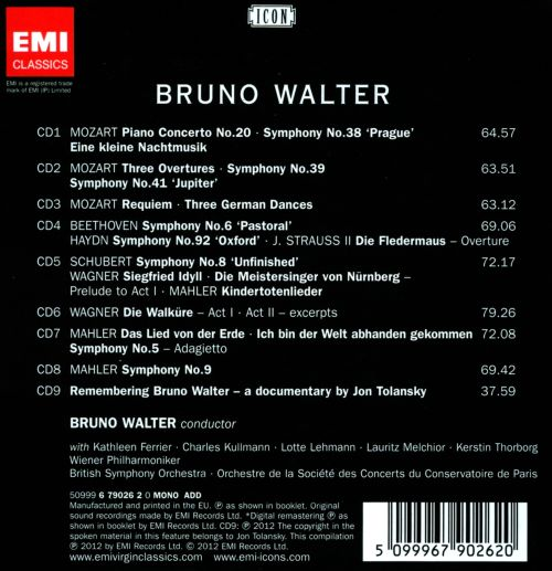 Icon: Bruno Walter - The Early Live
