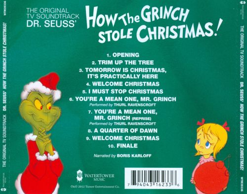 Dr. Seuss' How the Grinch Stole Christmas! [Original TV Soundtrack ...