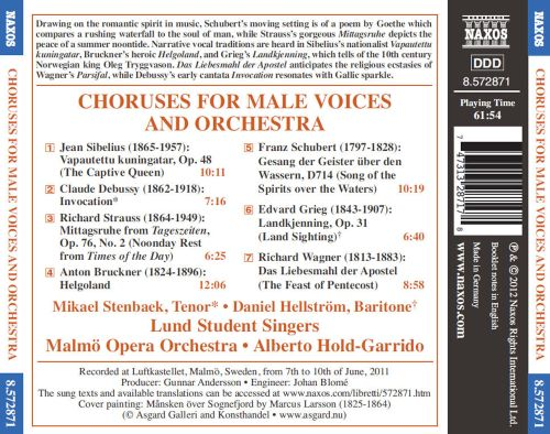 Choruses for Male Voices and Orchestra