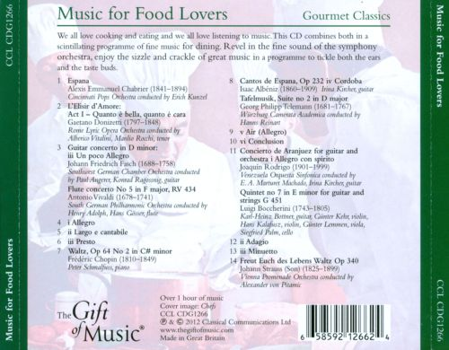 Music for Food Lovers: Gourmet Classics