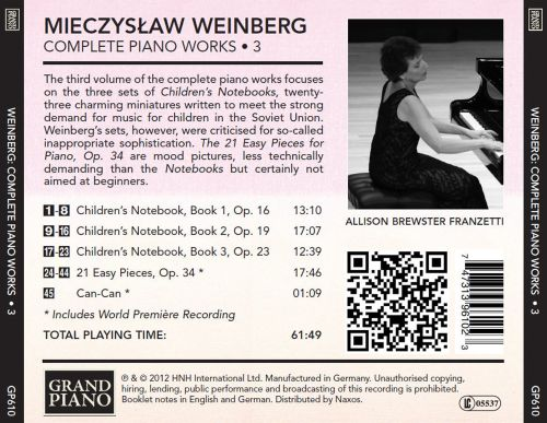 Mieczyslaw Weinberg: Complete Piano Works, Vol. 3