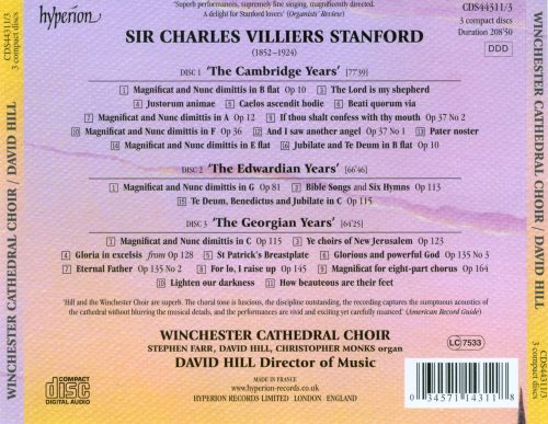 Stanford: Sacred Choral Music