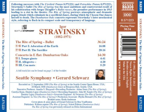 Stravinsky: The Rite of Spring; Dumbarton Oaks