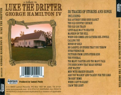 A  Tribute to Luke the Drifter: The Other Side of Hank Williams