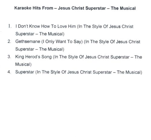 Karaoke Hits From Jesus Christ Superstar: The Musical