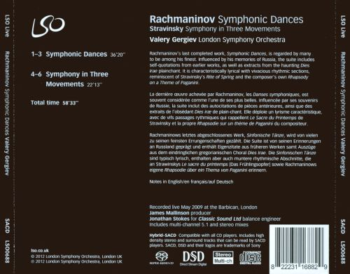Rachmaninov: Symphonic Dances; Stravinsky: Symphony in Three Movements