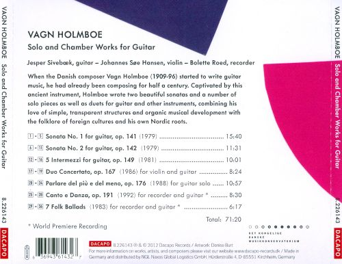 Vagn Holmboe: Solo & Chamber Works for Guitar