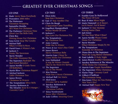 greatest ever christmas songs the definitive collection 2012 - Best Christmas Songs Ever