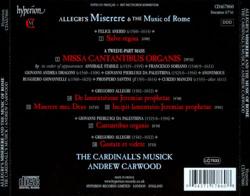 Gregorio Allegri's Miserere and the Music of Rome