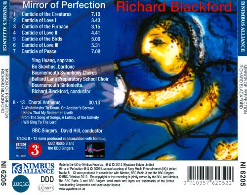 Richard Blackford: Mirror of Perfection; Choral Anthems