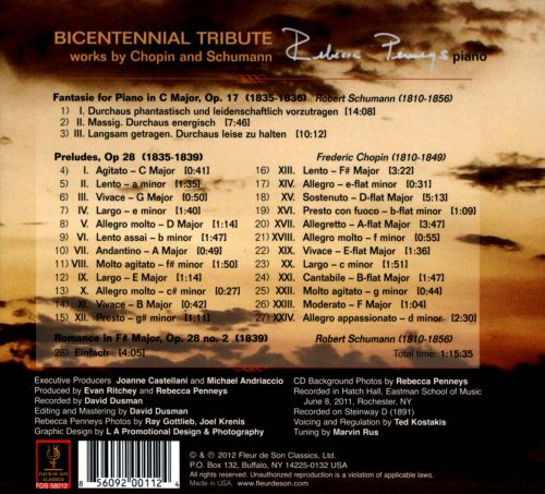 Bicentennial Tribute: Works by Chopin and Schumann