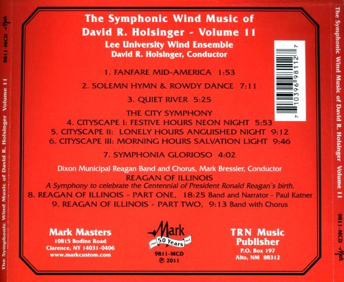 The Symphonic Wind Music of David R. Holsinger, Vol. 11