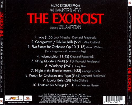 Musical Excerpts from The Exorcist