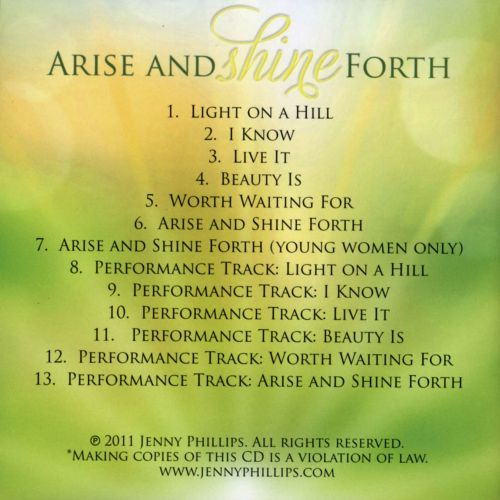 Arise and Shine Forth: Songs for Youth 2012