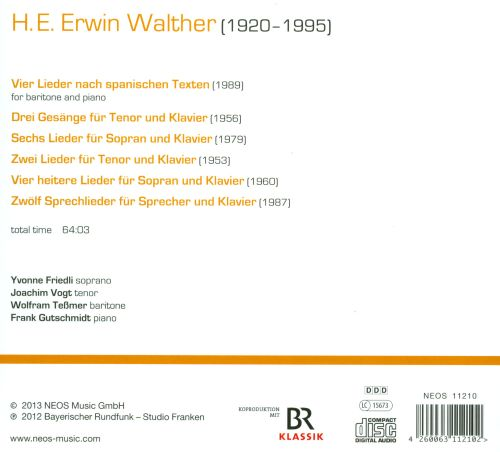 H.E. Erwin Walther: Vocal Music