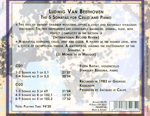 Beethoven: The 5 Sonatas for Cello and Piano