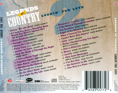 Legends of Country: Lookin' For Love