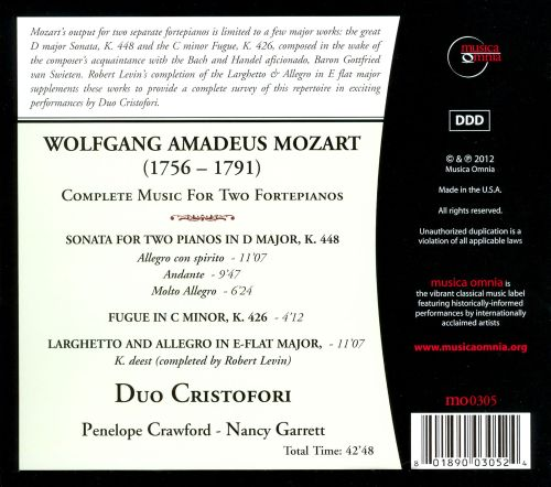 Mozart: Complete Music for Two Fortepianos