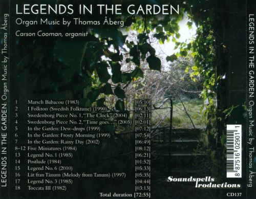 Legends in the Garden: Organ Music by Thomas Åberg