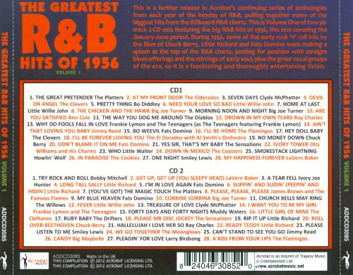 The Greatest R&B Hits of 1956, Vol. 1