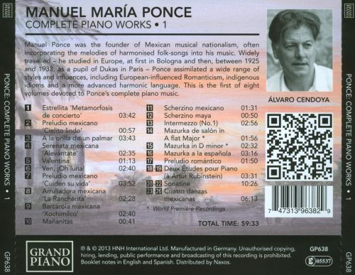 Manuel Ponce: Complete Piano Works, Vol. 1