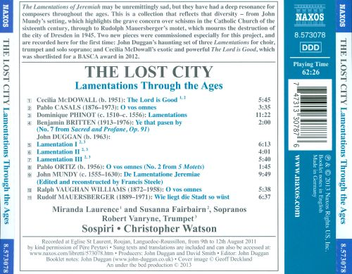 The Lost City: Lamentations Through the Ages