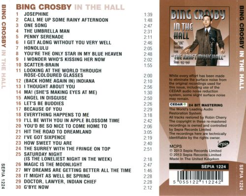 Bing Crosby in the Hall
