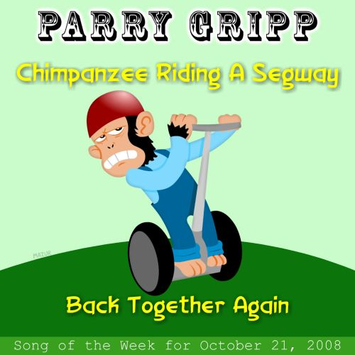Chimpanzee Riding a Segway