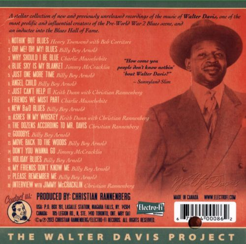 The Walter Davis Project: Tribute to a Giant of 20th Century Blues Music