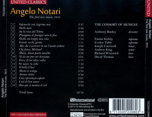 Angelo Notari: The First New Music