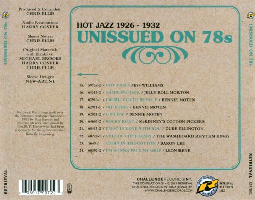 Unissued on 78s, Vol. 2: Hot Jazz 1926-1932