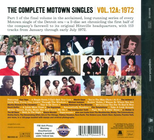 The Complete Motown Singles, Vol. 12A: 1972