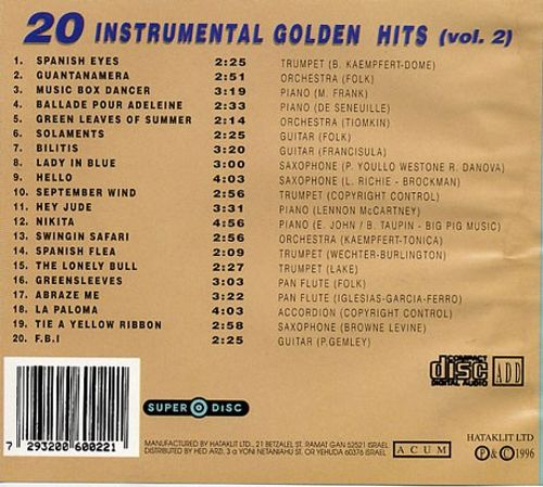 20 Selected International Melodies, Vol  2 - Various Artists